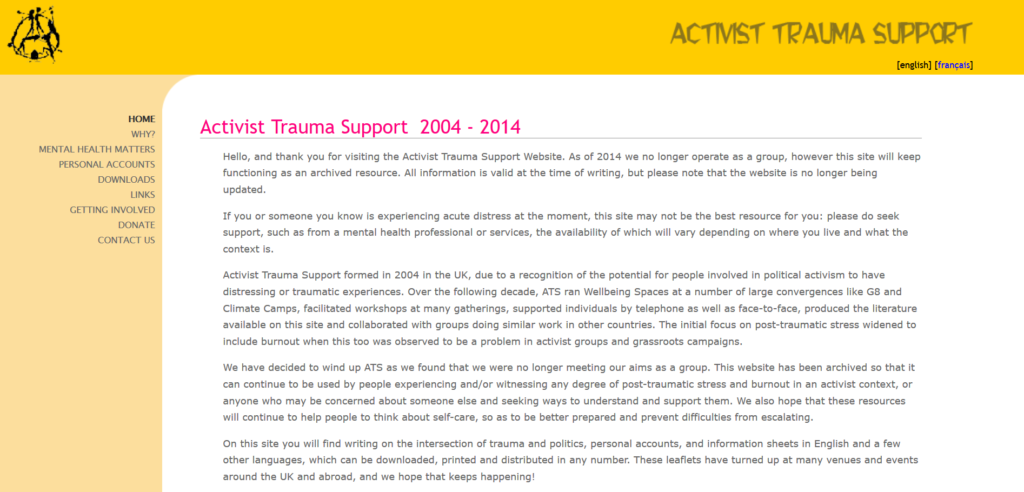 Screenshot_2020-07-20 Activist Trauma Support home